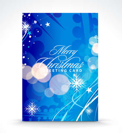 Christmas greeting card with presentation design. Vector