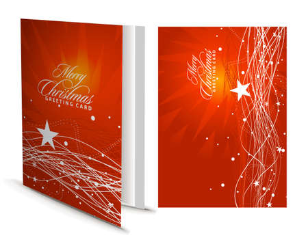 Christmas greeting card with presentation design. Stock Vector - 8238245