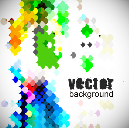 Abstract background from color circle background,  illustration. Vector