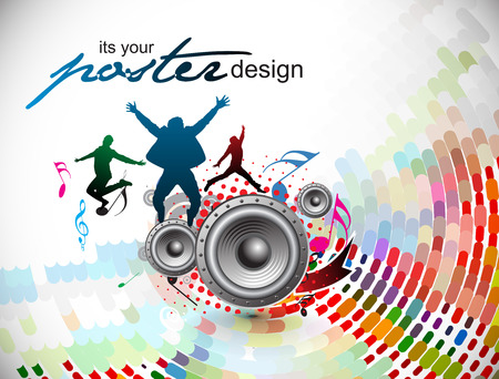 music poster: Abstract music background for music event design.  illustration.