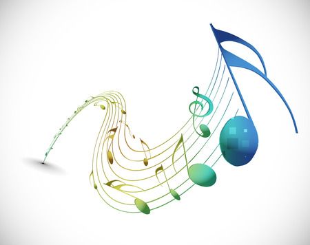 Music notes for design use,   illustration  Vector