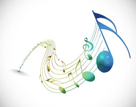 Music notes for design use, illustration