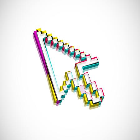 3d cursors mouse symbol,   illustration. Stock Vector - 8238325