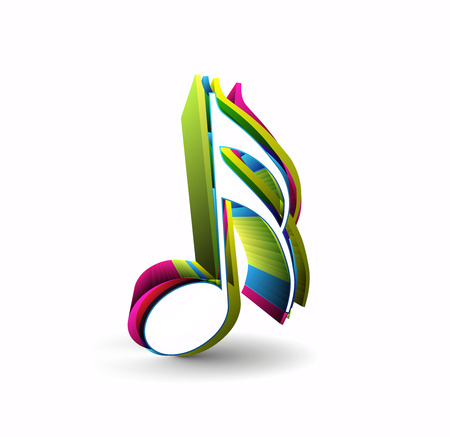 treble clef: Music notes for design use,  illustration