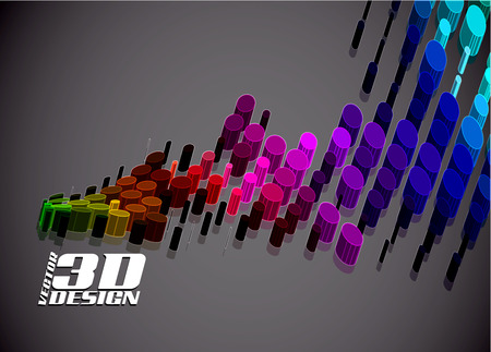 abstract 3d doted background  Vector