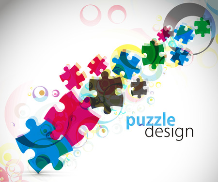 abstract   illustration of puzzle pieces. Vector