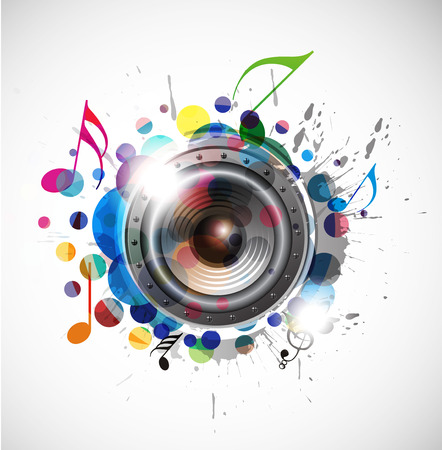 abstract colorful speaker design background illustration. Stock Vector - 8238502
