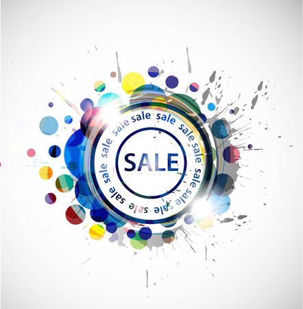 grunge sale banner, shopping concept grunge  Illustration. Stock Vector - 8238514