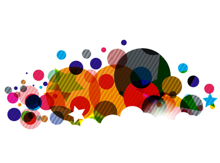 Abstract colorful circle background  illustration. Stock Vector - 8238516