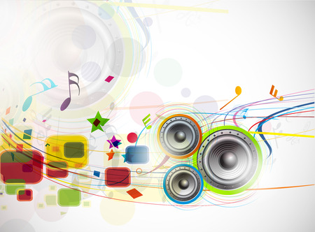 abstract music loudspeakers background, used of music project. Vector