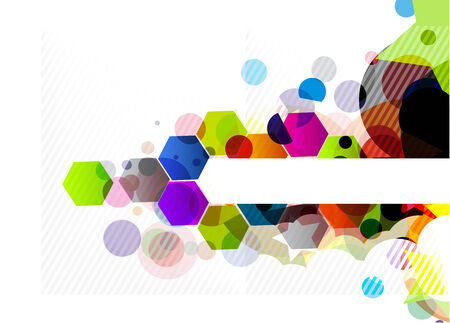 abstract colourful circle banner design background. Stock Vector - 8238549
