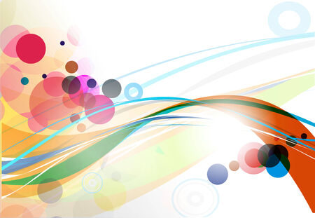 abstract wave line with sample text background.  illustration. Vector