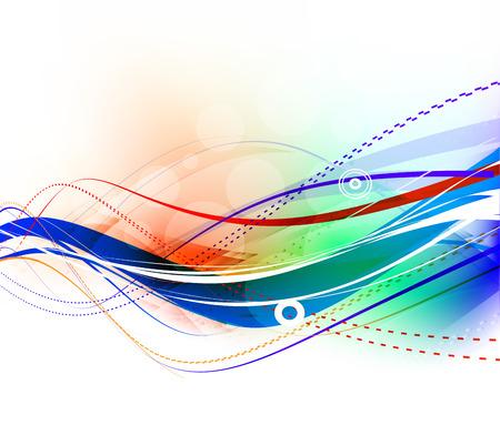 synergie: Abstrakt Welle Element entwerfen, Illustration.