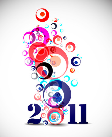 new years resolution: new year 2010 in white background.  illustration