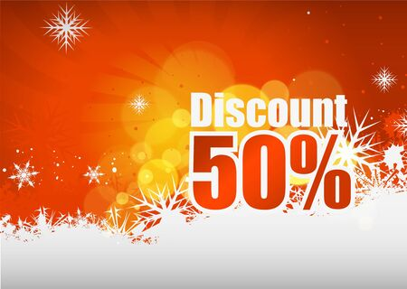 Beautiful discount banner design,  illustration. Stock Vector - 8238629