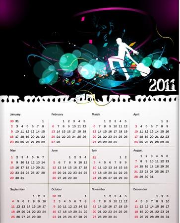 colorful 2011 calendar design element. Stock Vector - 8238349