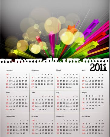 colorful 2011 calendar design element. Vector