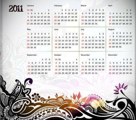 colorful 2011 calendar design element. Stock Vector - 8238681