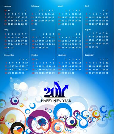 colorful 2011 calendar design element. Stock Vector - 8263225