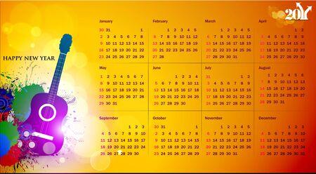 gitar:  colorful 2011 calendar design element.