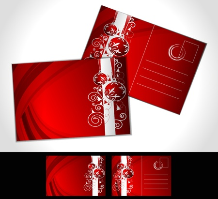 christmas post card, isolated on illustration background,  illustration Vector