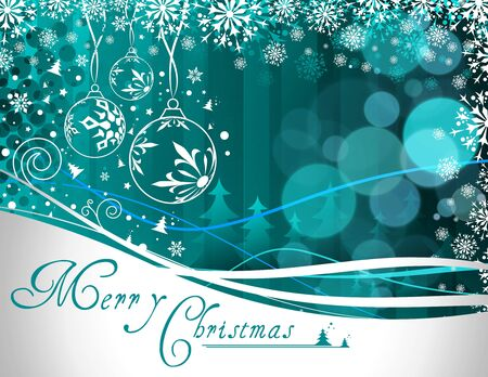 Background for new year and for Christmas, vector illustration Stock Vector - 8358468