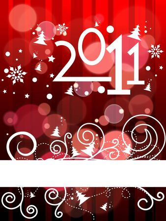 2011 card beautiful   illustration of chritsmas and new year Vector