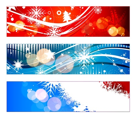 header for new year and for Christmas websites,  illustration Vector