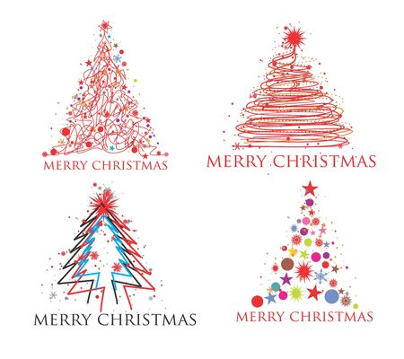 ration: Christmas tree set design element, illustration
