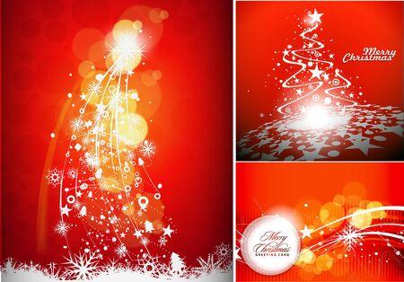 Christmas background set for poster design,  illustration Vector