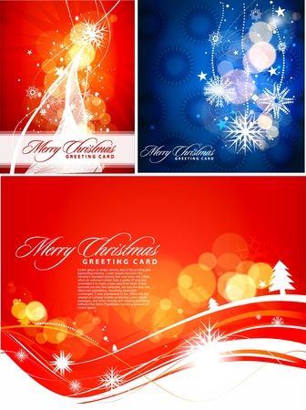 set of background for new year and for Christmas, illustration Vector