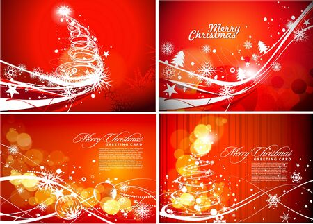 Christmas background set for poster design, illustration