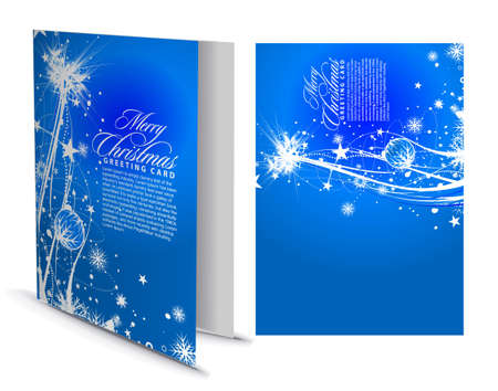 Christmas greeting card with presentation design. illustration