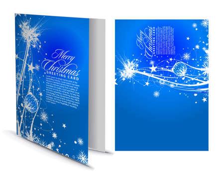 Tarjeta de felicitación de Navidad con el diseño de la presentación.  Ilustración