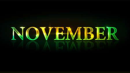 illustration - colorful  november design element. Stock Vector - 8411689