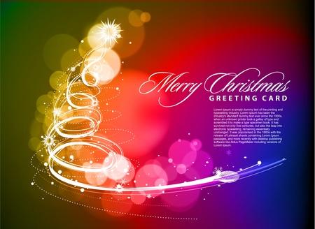 kleurrijke achtergrond voor Nieuwjaar en Kerst mis, vector illustratie Vector Illustratie