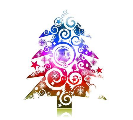 colorful background for new year and Christmas, vector illustration Stock Vector - 8498884