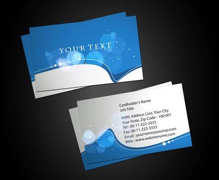 visitenkarte: Vector Business Card Set, Elemente f�r das Design. Illustration