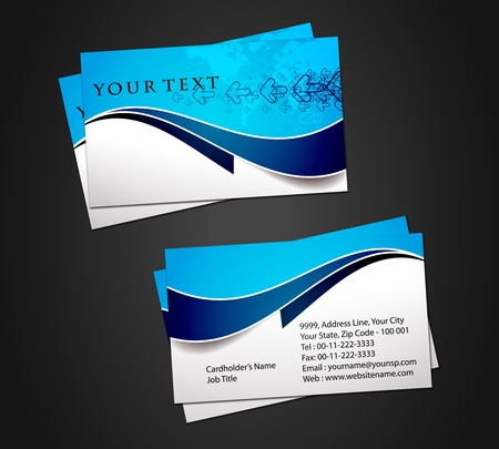 business card template: Vector business card set, elements for design.