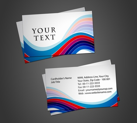 Vector business card set, elements for design. Stock Vector - 8568784