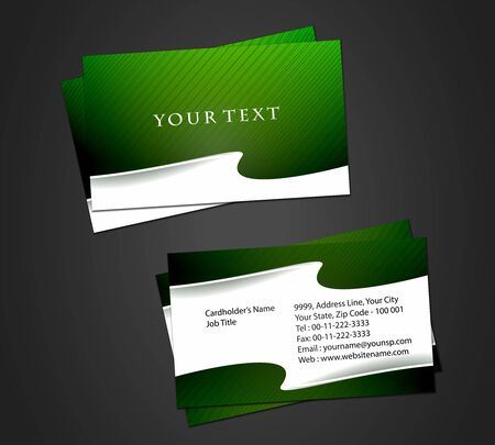 Vector business card set, elements for design. Stock Vector - 8568785