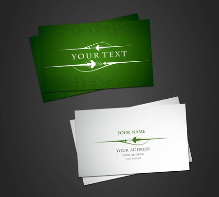vector business card set, elements for design. Vector