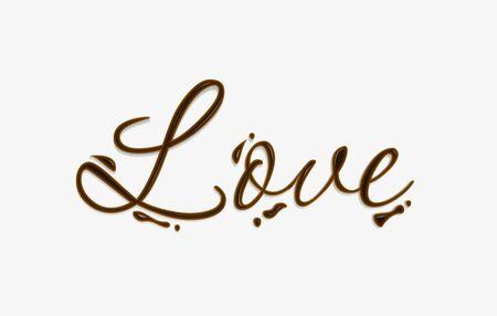 中毒性の: チョコレートのデザイン要素の作られたテキストが大好きです。