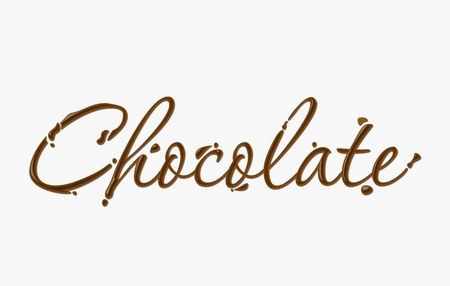Chocolate text made of chocolate  design element. Stock Vector - 8622119