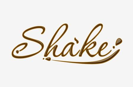 addictive: Chocolate shake text made of chocolate design element.