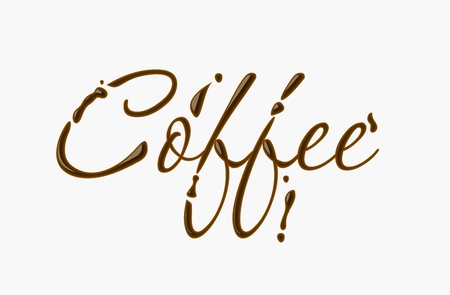 Coffee text made of chocolate design element.