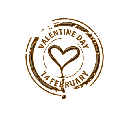 中毒性の: バレンタインのデザイン要素のチョコレート スタンプ記号です。  イラスト・ベクター素材