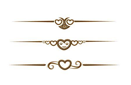 Chocolate heart symbol for valentine design element. Stock Vector - 8622209