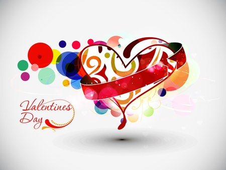 greeting card background: Abstract valentines day heart background with space of your text project.