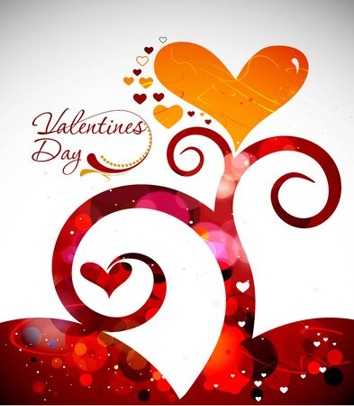 Abstract valentines day background, illustration. Stock Vector - 8622198